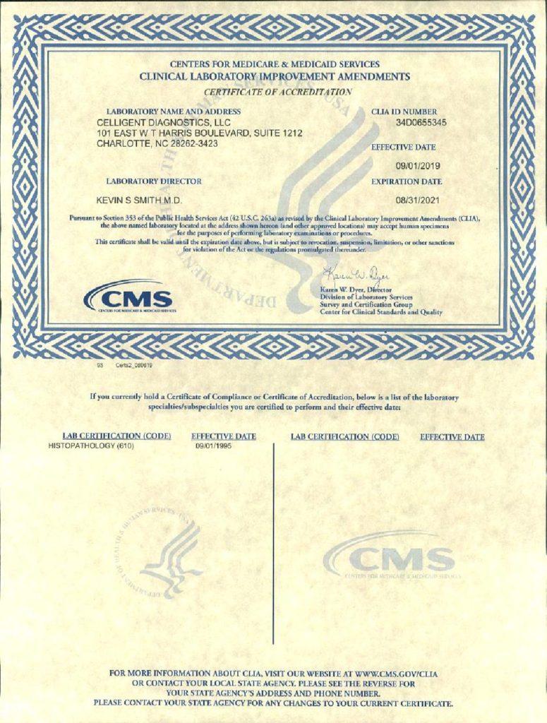 clia certificate nc certificates diagnostics laboratory